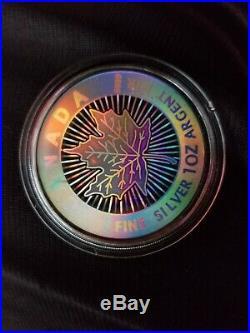 Canada 2003 1 Oz Hologram silver Rare Coin