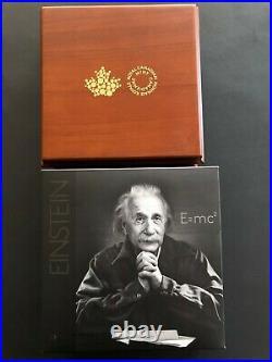 Canada 2015, 10 oz. Fine Silver Coin Albert Einstein Mintage1,500