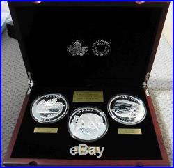 Canada 2015 1/2 Kilogram Fine Silver 3 Coins Conservation Series w RCM Box/COA