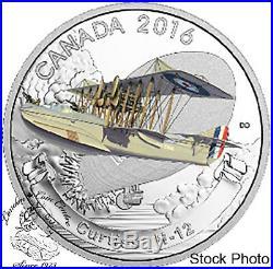 Canada 2016 $20 Aircraft of the First World War Series Curtiss H-12 Silver Coin