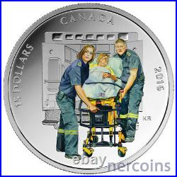 Canada 2016 National Heroes $15 x 4 Silver Proof Coin Set in Large Case Perfect