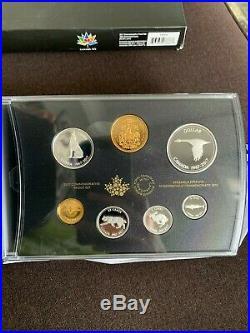 Canada 2017 Commemorative Pure Silver 7 Coin Proof Set 1967 Centennial Coins