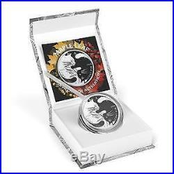 Canada 2018 5 Dollars Maple Leaf 1 Oz Yin-Yang Cats Silver Coin
