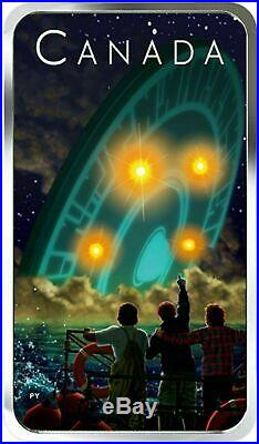 Canada 2019 20$ Shag Harbour UFO Incident #2 Glow-in-the-Dark 1oz Silver Coin