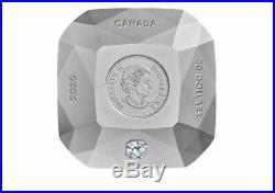 Canada 2020 50$ Diamond-shaped Forevermark Diamond 3 oz. Pure Silver Coin