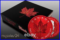 Canada 2021 $5 Maple Leaf MOSAIC SPACE RED EDITION 1 oz