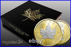 Canada 2021 $5 Maple Leaf YELLOW GOLD 24k EDITION 1 oz