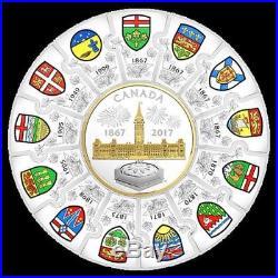 Canada Canada 150 2017 Puzzle 1/2 Kilo Pure Silver Coin (Mintage 800)