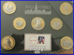 Canada Maple Leaf 2009 Gold & Platinated 1oz silver coin from Wall Street Set