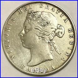 Canada Silver Coin 50 Cents (1871) Rare Queen Victoria
