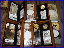 Complete Collection of ALL 8 Canada Wildlife Silver Coin & Stamp Sets. Mint