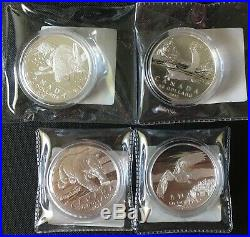 Complete Set of Canadian Mint $50 for $50 Face Value Fine Silver Coin (Lot of 4)