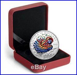 Dragon Boat Festival 1oz Silver Ultra High Relief Coloured Coin
