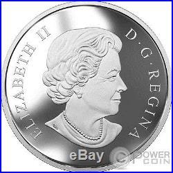 GREAT GREY WOLF Zentangle Art 2 Oz Silver Coin 30$ Canada 2017