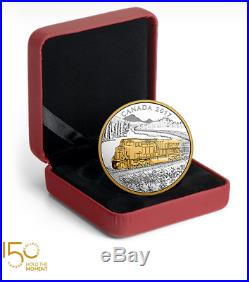 Locomotives Across Canada 1 oz Pure Silver Gold-Plated 3-Coin Subscription 2017