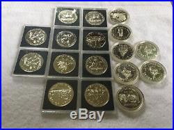 Lot Of 17 Canadian Silver Dollars $1 Coins 1974-1993 Proof Uncirculated Canada