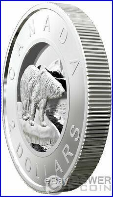 MULTILAYERED POLAR BEAR Silver Coin 2$ Canada 2019