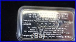 NOS 1998 Royal Canadian Mint $50 Silver 10 oz 10th Anniversary Coin COA
