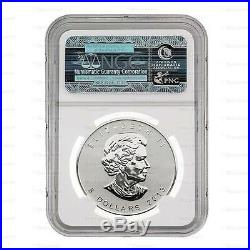 New 2013 Canadian Silver Maple Leaf, Snake Privy Mark 1oz NGC SP69 Graded Coin