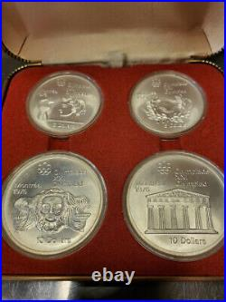 New Listing 1976 Proof Silver Canadian Montreal Olympic Games Set -4 Coin Set