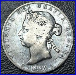 OLD CANADIAN COIN 1892 50 CENTS. 925 SILVER Victoria Nice