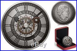 Peace Tower Clock 90th Anniversary canada 2017 $50 5 oz. Pure Silver Coin