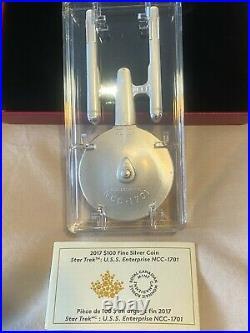 Pure Silver Coin Star Trek U. S. S. Enterprise NCC-1701 -Mintage 1,000 (2017)