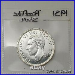 RARE 1951 Canada Silver Dollar Coin Prooflike SWL Short WaterLine #coinsofcanada