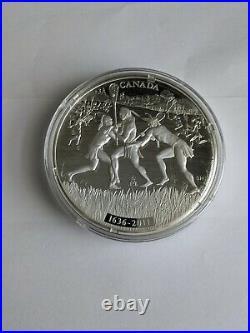 Rare Canada 2011 375th Anniversary Of Lacrosse $250 Fine Silver coin 1 kg