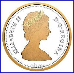 Rare Canada 2 oz Silver Gold Plated Dollar Coin, Arctic Territories, 2020