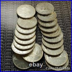 Roll Of 20 1939-1967 Canada Silver Dollars $20 Face Value 12oz #coinsofcanada