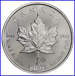 Roll of 25 -2019 Canada 1 oz. Silver Maple Leaf $5 Coins GEM BU PRESALE SKU55538