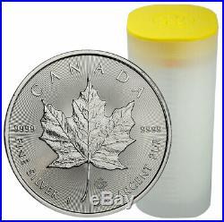 Roll of 25 2020 Canada 1 oz Silver Maple Leaf $5 Coins GEMBU SKU59993
