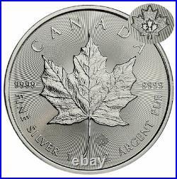 Roll of 25 2021 Canada 1 oz Silver Maple Leaf $5 Coins GEM BU