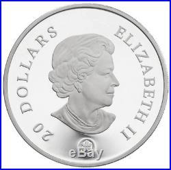 Sapphire Crystal Snowflake 2008 Canada $20 Fine Silver Coin