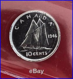 Scarce 1946 Canada Silver 10 Cent Dime Coin ICCS Specimen SP-65
