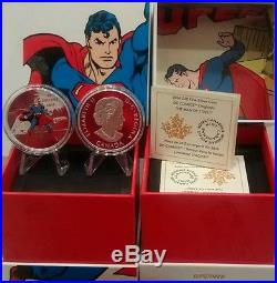 Superman $20 2016 1OZ Pure Silver Proof Coin Canada MAN OF STEEL DC Comics
