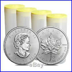 Tube of 25 x 2019 Canadian 1 oz maple leaf 999.9 Silver Bullion Coin