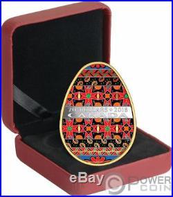 UKRAINIAN PYSANKA Easter Spring Egg Folk Art 1 Oz Silver Coin 20$ Canada 2018