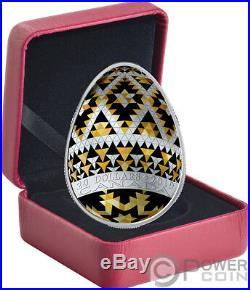 VEGREVILLE PYSANKA Easter Gold Spring Egg Shape 1 Oz Silver Coin 20$ Canada 2019